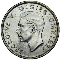 1946 FLORIN - GEORGE VI BRITISH SILVER COIN - SUPERB