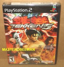 Tekken 5 Original 1st Print Black Label New Sealed Sony PlayStation 2, 2005) PS2
