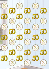 50th Golden Anniversary Strings Decorations Pk6
