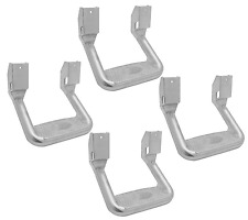 Bully AS-600 Set of 4 Polished Side Steps for Tahoe/Rodeo/Excursion/Pathfinder