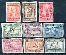 """TIMBRE STAMP ZEGEL CONGO BELGE ANNEE 1930 """" GOUTTE DE LAIT """" 150-158  XX"""