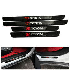 4Pcs Black Rubber Car Door Scuff Sill Cover Panel Step Protector For Toyota (Fits: Toyota)