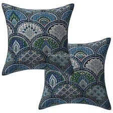 "Cotton Rainbow Print Kantha Pillow Cases 16"" Indian 40 Cm Pair Cushion Cover"