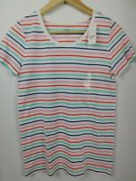 NWT GAP Women's Favorite Crew Neck T-Shirt White Striped Sizes XS & S NEW