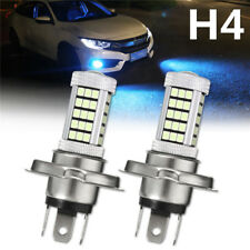 2x H4 2835 LED 66 SMD Ice Blue Projector Car Driving Fog Light Bulb Lamp DC 12V