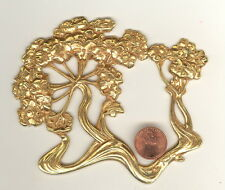 1 Russian Gold Plate Vintage Miriam Haskell 4-3/4 INCH FLOWERING TREE Stamping