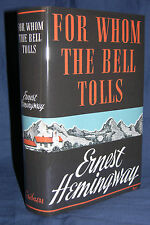 FOR WHOM THE BELL TOLLS Ernest Hemingway 1st edition First Print, 1940, VG