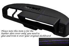 PURPLE STITCHING FITS FIAT X1/9 X19 DASH DASHBOARD LEATHER SKIN COVER ONLY