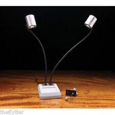 "DUAL PRO LITE LED 18"" Light  2 Lamps  Fly Tying  Pedistal & C-Clamp NIB"