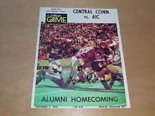 1974 AIC AMERICAN INTERNATIONAL CENTRAL CONNECTICUT COLLEGE FOOTBALL PROGRAM