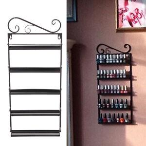 5 Tier Wall Mounted Nail Polish Rack/ Varnish Shop Display Stand Black