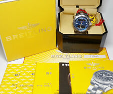 Terrific Blue Dial Breitling B1 A68362 Mens Watch Box Papers Tag