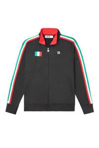 Men's Fila Black/Red Italy Track Jacket