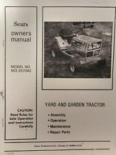 Sears-Murray GT/16 Lawn Garden Tractor Owner & Parts Manual 36pg 502.257040 1977