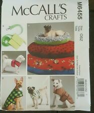 Pet Dog Beds Coats Leash & Harness Sewing Pattern/McCall's M6455/OSZ Uncut