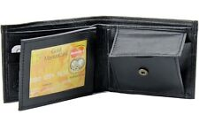Mens Bifold Leather Coin Key Pocket Wallet Purse Credit Card ID Billfold Holder