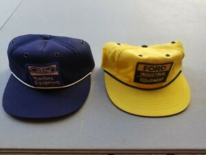 2 Vintage Ford Hats Tractors Industrial Equipment