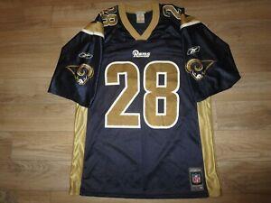 Marshall Faulk #28 St. Louis Rams Super Bowl Reebok Jersey M MED mens