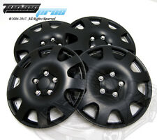 "Hubcap 16"" Inch Wheel Rim Skin Cover 4pcs Set Matte Black -Style 502 16 Inches-"