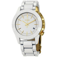 Nixon Monarch White Dial Ladies Quartz Watch A2881035
