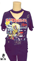 Iron Maiden KILLERS T Shirt Womens Distressed Oversided Ripped T Shirt / Dress