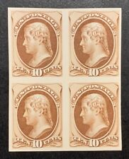 TDStamps: US Stamps Scott#150P4 10c Jefferson Unused H NG Block of 4, Proof