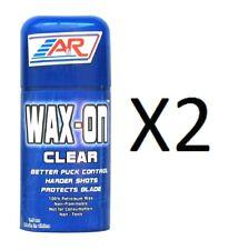 2 Pack A&R Premium Wax-On Clear Hockey Stick Extra Sticky Wax Ice Street 1.5Oz