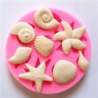 * Silicone Shellfish Starfish Shell Soap Cookie Candy Mold Mould Craft Handmade