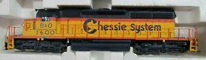 Broadway Limited Chessie B&O SD40-2 Diesel Locomotive w/DC Sound & DCC Decoder