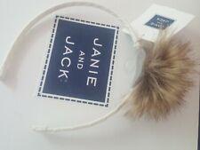 janie and jack NWT Faux Fur Pom pom headband 2 3 4 5 6 hair New dressy Winter