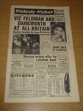 MELODY MAKER 1956 OCTOBER 6 VICTOR FELDMAN HUMPHREY LYTTELTON EVE BOSWELL +