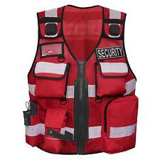 Leuchtweste Einsatzweste Security Warn-weste Sicherheitsweste Schutzweste Rot