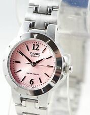 Casio LTP1177A-4A1 Ladies Pink Analog Watch Stainless Steel Band Dress Date New