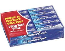 Wrigley's WINTERFRESH Chewing Gum 40 pk of 5 Fresh 200 Sticks Total