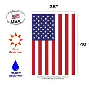 28x40 USA American Flag United States Banner Sleeve New America Pennant