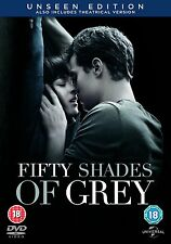 FIFTY ( 50 ) SHADES OF GREY UNSEEN EDITION  NEW SEALED UK DVD