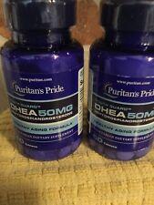 2 X Puritan's Pride DHEA 50mg Build Muscle Burn Fat Weight Loss Stamina Vigor