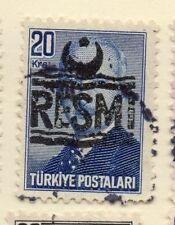 Turkey 1955-56 Optd Resmi Star & Crescent Issue Fine Used 20k. 085976