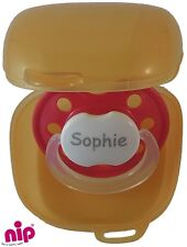 Nip storage sterilising box for dummies pacifiers soothers orange
