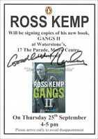 ROSS KEMP AUTOGRAPH *GANGS II, EASTENDERS* HAND SIGNED 8X6 FLYER