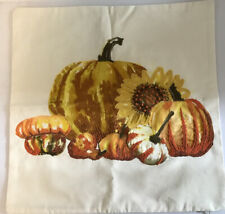 "Pottery Barn Embroidered Pumpkin Pillow Cover 20"" X20"""