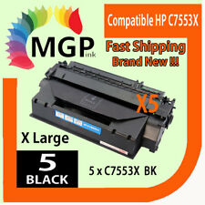 5x Q7553X 53X Toner Cartridge for HP Laserjet P2015dn P2015n  P2015x Printer