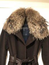 Andrew Marc women's Wool coat Fox Fur Collar Trim Size 4