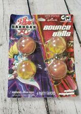 Bakugan Hallmark Party Favor Lot 4 Bounce Balls Large Clear Multicolor Collect