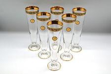 Bier-Gläser Set 6 Kristallglas Mäander Medusa Vergoldet 24 Karat meander versac