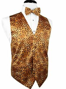Jaguar Big and Tall Tuxedo Vest and Bow Tie Set
