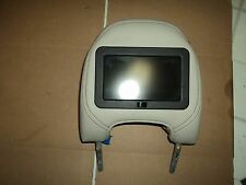 03 VOLVO S80 DRIVER LEFT FRONT SEAT HEADREST WITH MONITOR SCREEN TAN