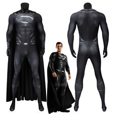 Superman Costume Cosplay Suit Clark Kent Justice League Black Ver 3D Printed
