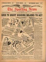 Sporting News Baseball newspaper 2/15/1964, Charlie Finley, Walter O'Malley ~ VG