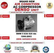 DENSO ARIA CONDIZIONATA COMPRESSORE AC PER BMW 5 E39 525 tds 1996-2003 OE